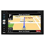 BOSS Audio Elite BV960NV Car GPS Navigation & DVD Player - Double Din, Bluetooth Audio and Calling, 6.2 Inch LCD Touchscreen Monitor, MP3/CD/DVD/USB/SD, Aux-in, AM/FM Radio Receiver