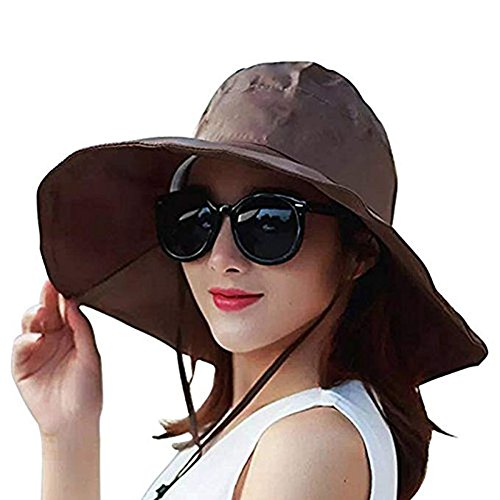 Women Summer Rain Hat UV UPF 50 Sun Protection Wide Brim Hat Sun Hat Foldable Bucket Hat