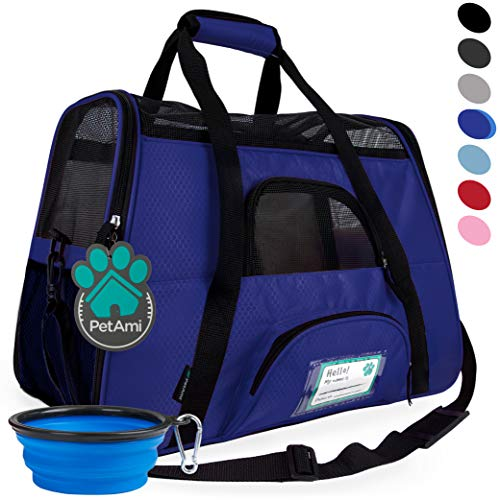 PetAmi Premium Airline Approved Soft-Sided Pet Travel Carrier | Ideal for Small - Medium Sized Cats, Dogs, and Pets | Ventilated, Comfortable Design with Safety Features (Small, Royal Blue)