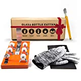 Bottle Cutter & Glass Cutter Bundle - DIY Machine for Cutting Wine, Beer, Liquor, Whiskey, Alcohol, Champagne, Water or Soda Round Bottles & Mason Jars to Craft Glasses - Accessories Tool Kit, Gloves