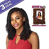 MULTI PACK DEALS! Sensationnel Synthetic Hair Crochet Braids Lulutress 3X Kinky Twist 12' (3 pack, SM1B/30)