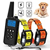 Ace Teah Dog Training Collar,Rechargeable Dog Shock Collar with Beep Vibration Shock,100% Waterproof Training Collar LED Light 2600ft Remote Range Electronic Collar Shock for Small Medium Large Dogs