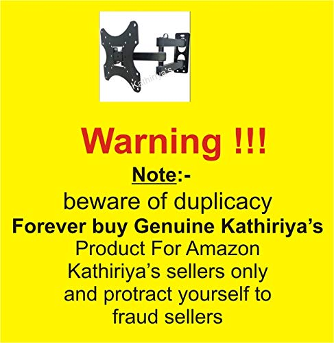 Kathiriyas Kathiriya,s Solid Heavy Metal Wall Mount Stand (Movable) for 17 to 40-inch LCD LED TV with All Screw (Black) 8