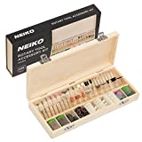 "Neiko 50493A Rotary Tool Accessory Kit | 228Piece Assortment Set with Wooden Organizer Case | 1/8"" Shank"