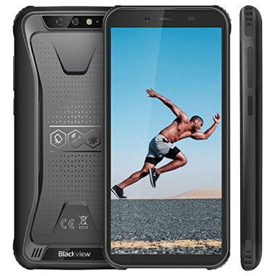 【2019】Blackview BV5500 Rugged Smartphone IP68 Dual Sim da 16GB, 32GB Espandibili, Batteria 4400mAh, 5.5″ HD+ 2GB RAM, 8MP e 5MP, 3G Cellulare Android 8.1, GPS/GLONASS/Face ID/Bussola/WIFI-Nero[Italia]