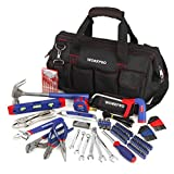 WORKPRO 156-Piece Home Repair Tool Set - Daily Use Hand Tool Kit with Wide Open Mouth Tool Bag - Durable, Long Lasting Tools - Perfect for DIY, Home Maintenance