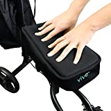 Vive Knee Walker Pad Cover - Padded Memory Foam Accessory for Knee Scooter and Roller - Improves Leg Cart Comfort During Injury - Soft Padding Easily Attaches to Most Walkers (Black)