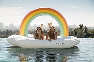FUNBOY-Giant-Inflatable-Rainbow-Cloud-Daybed-Pool-Float