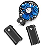 OPOLAR 10400mAh Battery Operated Fan, Portable Handheld Fan with 10-40 Hours Working Time,3 Setting, Strong Wind,Foldable Design, for Travel, Hurricanes, Camping and Outdoor Activities