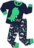 shelry Dinosaur Pajamas for Boys Summer Children 2 Piece Cotton Pjs Set Toddler Kids Sleepwear Size 12t