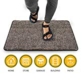 Indoor Doormat Super Absorbent Mud Mat 24'x 60' Non Slip Door Mat for Front Door Inside Floor Dirt Trapper Mats Cotton Entrance Rug Shoes Scraper Machine Washable Rug Runner