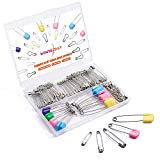 HOUSE DAY Safety Pins Set with 5 Sizes Family Use for Baby Clothing, Sewing & Crafts