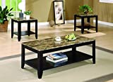 Product review for Coaster 3pc Coffee Table & End Table Set Faux Marble Top Espresso Finish