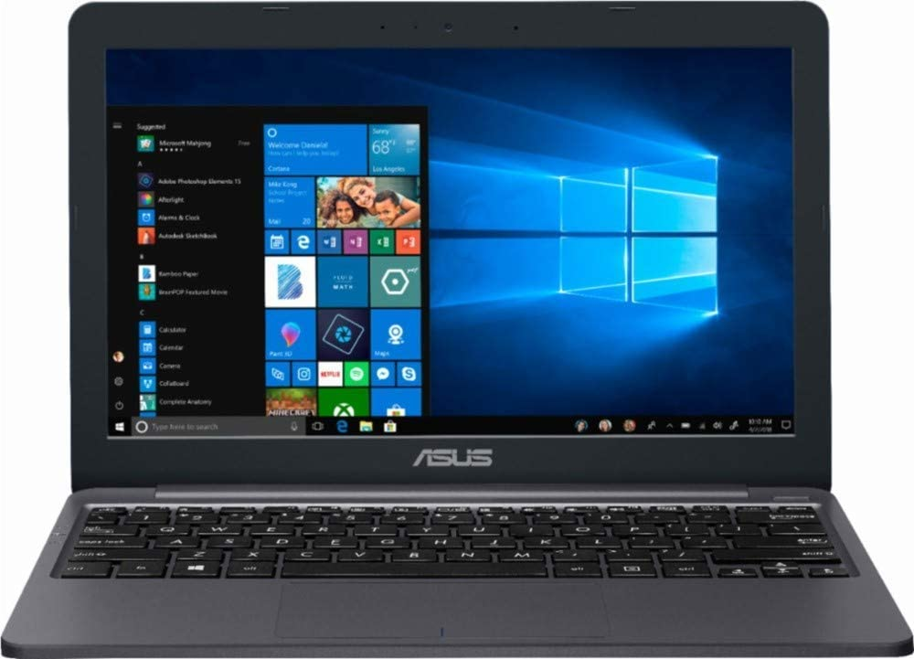 "Asus 2019 Newest Premium 11.6"" Laptop (Intel Celeron N4000, 2GB RAM, 32GB eMMC, Lightweight, Thin, Bluetooth, HDMI, Gray, Windows 10)"