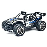 Really GO-US Direct RC Desert Buggy Cars BG1512 1:16 High Speed15KM/H Scale RTR Remote Control Monster Truck Off Road Car Big Foot RC 2WD Buggy W/2.4G Challenger Blue 11.4×7.4×5.1 Inch