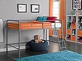 DHP Junior Loft Bed Frame Ladder, Silver