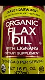 Trader Darwin's Organic Flax Oil with Lingans
