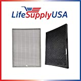 LifeSupplyUSA Complete HEPA and Carbon Filter Replacement Set Compatible with AIR Doctor Carbon Gas Trap VOC and Ultra HEPA Air Purifier