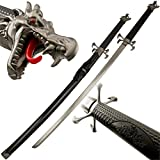 Dragon's Tongue Samurai Katana Sword with Dragon Head Pommel