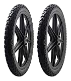 2 PACK -Marathon 92010 Flat Free 20' Replacement Tire Assembly for Rubbermaid Big Wheel Carts, Black