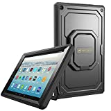 Fintie Case for All-New Amazon Fire HD 10 Tablet (7th Gen 2017) - [Tuatara Magic Ring] [360 Rotating] Multi-Functional Grip Stand Shockproof Protective Carry Cover w/Built-in Screen Protector, Black