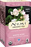 Numi Organic Tea White Rose, 16 Count Box of Tea Bags, White Tea (Packaging May Vary)