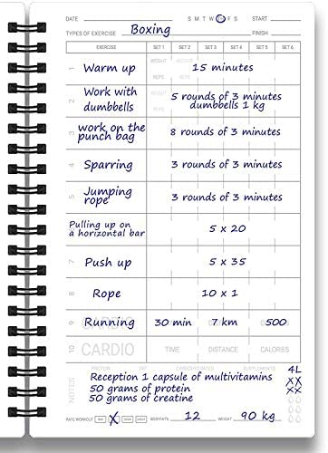 Cossac Fitness Journal & Workout Planner - Designed by Experts Gym Notebook, Workout Tracker,Exercise Log Book for Men Women 10