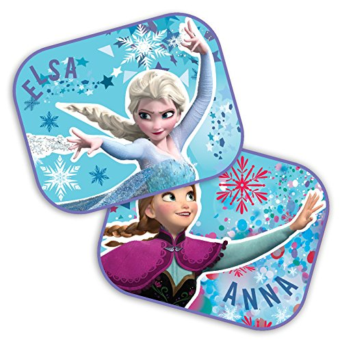 2x Car Sunshades Disney Frozen Elsa and Anna 44x35cm