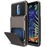 Elegant Choise LG K40 Case, LG K12 Plus/LG Harmony 3 / LG Solo LTE (L423DL) / LG X4 2019 / LMX420 Case, Wallet Design (Up to 4 Cards) with Card Slot Holder Hybrid Shockproof Protective Case (Black)