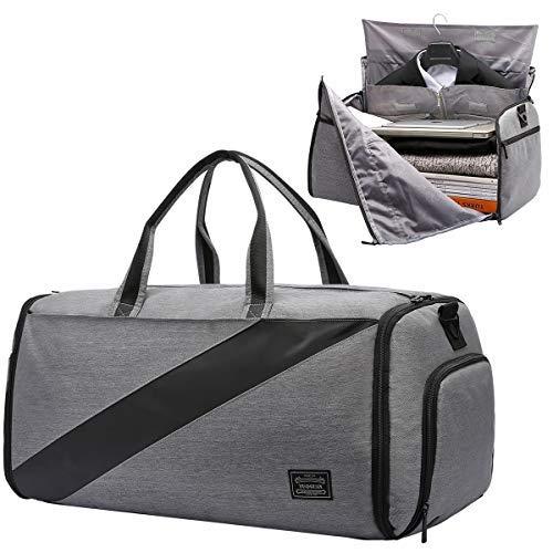 carryon suit garment bag,foldable suit travel bag convertible luggage duffel gym garment bag with shoulder strap for men&women