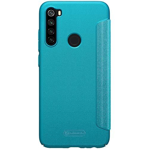 "51FoO7xMLjL - Nillkin Case for Xiaomi Redmi Note 8 (6.3"" Inch) Sparkle Leather Flip Folio Book Type PC Blue Color"