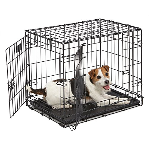 MidWest Homes for Pets Dog Crate | iCrate Single Door & Double Door Folding Metal Dog Crates | Fully Equipped 1