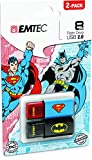 Emtec Super Hero 8GB USB 2.0 2-Pack USB Drives (ECMMD8GC600BSP2)