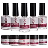 Makartt All-Inclusive Dipping Powder Starter Kit with Acrylic Powder and Gel Resin, Easy to Use French Dip Powders Nail Color System UV/LED Light Free Odorless P-06