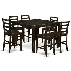 7 PC counter height set- Square Table plus 6 Kitchen counter Chairs