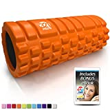 321 STRONG Foam Roller - Medium Density Deep Tissue Massager for Muscle Massage and Myofascial Trigger Point Release, with 4K eBook - Orange