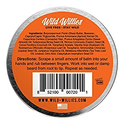 Beard Balm Conditioner for Men - Wild Willie's Beard Butter - Amazing Beard Balm with 13 Natural Locally Sourced Ingredients to Condition and Treat Your Beard or Mustache at The Same Time.  Image 1