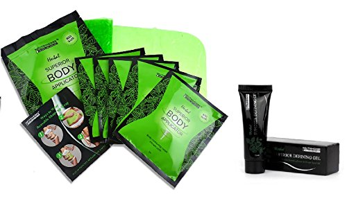 5 Ultimate Body Applicators and 1 Body Defining Gel, Body Wraps Works in Just 45 Minutes for Slimming, Detoxing and Firming
