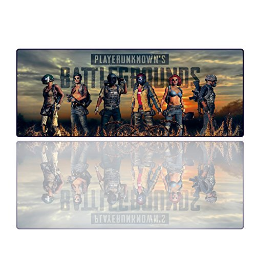 PUBG Gaming Mouse Pad Extended Professional XXL Large Extended Computer Mouse Mat for Home Office Computer Laptop Mac