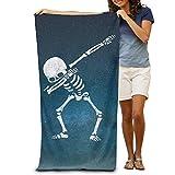 Bath Towel Microfiber BAGT, Dabbing Skeleton Dab Hip Hop Skull Adults Bath Towel 31x51 Inches