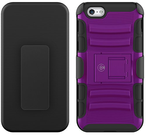 CABLE AND CASE iPhone 6s Case, [Blade Series] - Heavy Duty Protection from Drops and Falls - Also Compatible with Apple iPhone 6 [Purple]