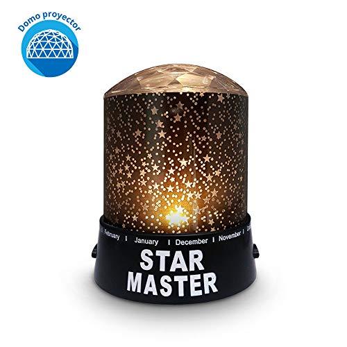 Redlemon Lámpara Proyector de Estrellas con Domo para Niños, 2 Modos de Iluminación de Luz LED...