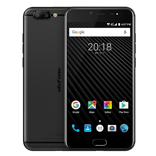 Ulefone T1 6GB+64GB Global Version 5.5 Inch Android 7.0 MTK Helio P25 Octa Core 64-bit up to 2.6GHz WCDMA & GSM & FDD-LTE (Black)