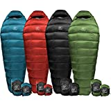 Outdoor Vitals Summit 0 & 15 & 30 Degree F Ultralight Backpacking Mummy Down Sleeping Bag for Lightweight Hiking & Camping...