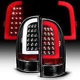 ACANII - For Blk [Light Bar Design] 2005-2015 Toyota Tacoma LED Tail Lights Brake Lamps