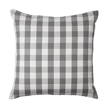 Ikea Smanate Housse De Coussin Blanc Gris 50x50 Cm
