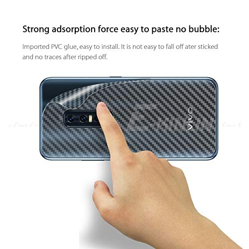 Cassby Vivo V17 Pro Back Guard Film Carbon Fiber Finish Safety Protective Film Anti-Scratch Anti Fingerprint Layer (Transparent) 5