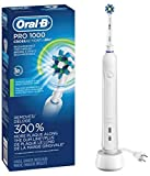 Oral-B White Pro 1000 Power Rechargeable Electric Toothbrush, Powered by Braun