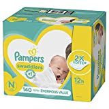 Diapers Newborn / Size 0 ( 10 lb), 140 Count - Pampers Swaddlers Disposable Baby Diapers, Enormous Pack