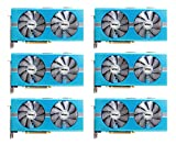 6 packs of Sapphire Radeon NITRO+ RX 580 8GB GDDR5 DUAL HDMI / DVI-D / DUAL DP w/ backplate SPECIAL EDITION (UEFI) PCI-E Graphic Cards 11265-21-20G